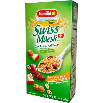 Swiss Muesli, No Added Sugar Rolled Whole Grains With Fruit And Nuts