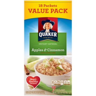 Instant Oatmeal, Apples & Cinnamon, Variety Pack