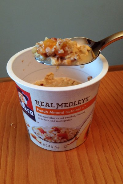 Instant Oatmeal, Real Medleys Peach Almond