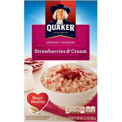 Instant Oatmeal, Strawberries & Cream
