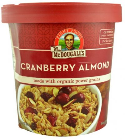Non-Dairy Hot Cereal, Cranberry Muesli Made with Organic Grains