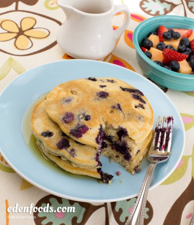 Blueberry All Natural Whole Grain Pancakes