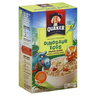 Instant Oatmeal, Brown Sugar, Dinosaur Eggs