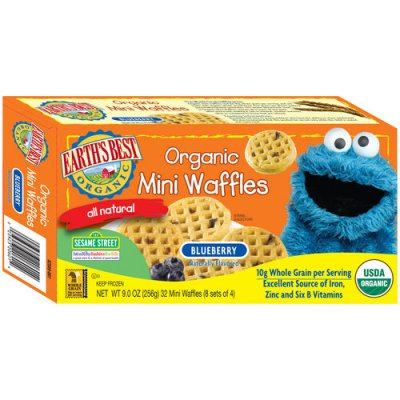 Mini Waffles, Sesame Street, Blueberry