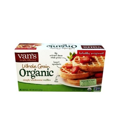 Whole Grain Organic Simply Wholesome Waffles