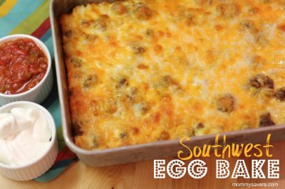 Breakfast Bake Southwest with Peppers, Egg, Cheese & Hash Browns