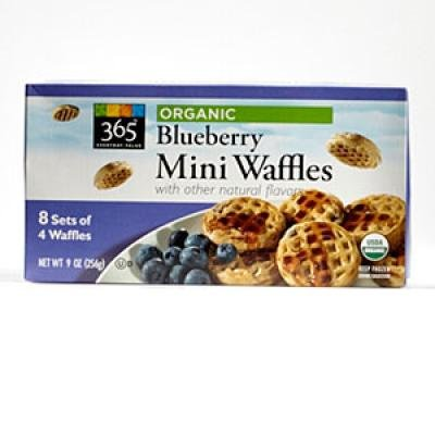 Organic Blueberry Mini Waffles