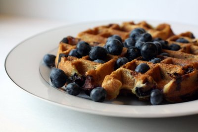 Waffles, Blueberry