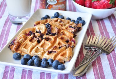 Waffles, Blueberry, Organic