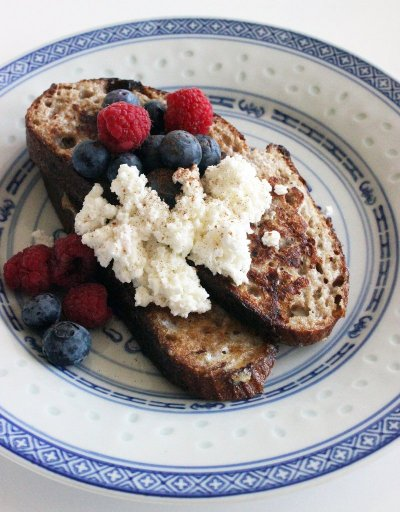 French Toast, Made with Whole Grain
