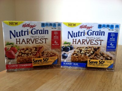 Nutri Grain Harvest, Hearty Breakfast Bars, Made With Real Fruit And Whole Grains