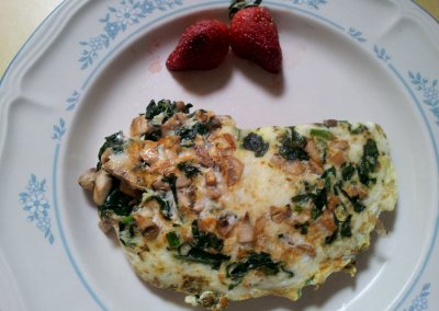 Omelette, Egg White, Spinach and Mushroom