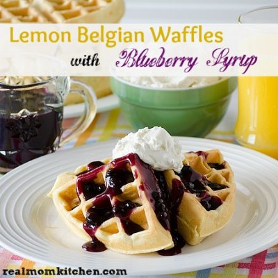 Waffles, Blueberry with Real Blueberries
