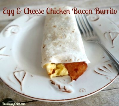 Breakfast Burrito, Eggs, Cheese & Uncured Bacon