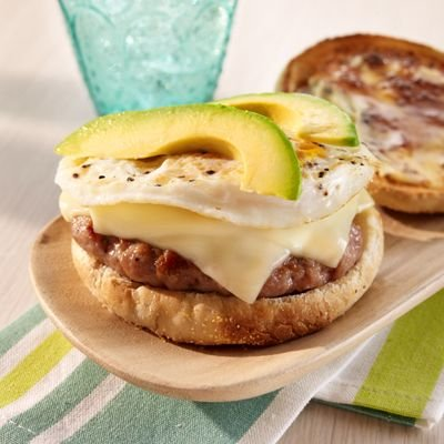 Breakfast Sandwiches, Sausage, Egg & Chees