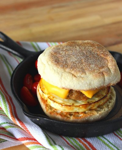 Turkey Sausage Muffin Sandwiches