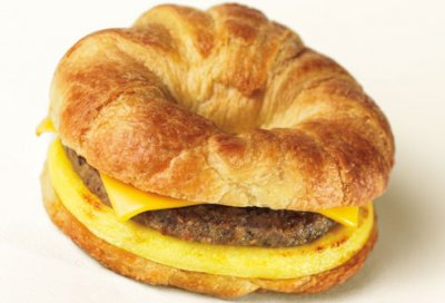 Croissant Sausage, Egg & Cheese Sandwiches