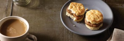 Maple sausage Biscuit Sandwiches