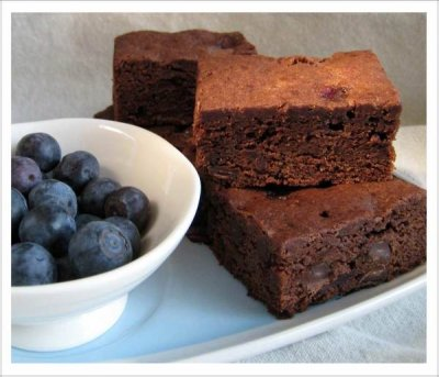 Double Chocolate Brownie, Blueberry