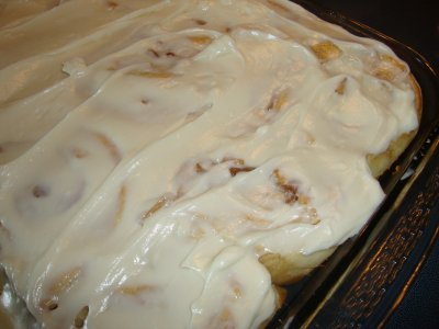 Cinnamon Rolls, with Cream Cheese Frosting