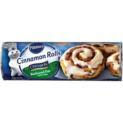 Cinnamon Rolls, Reduced Fat, with Icing