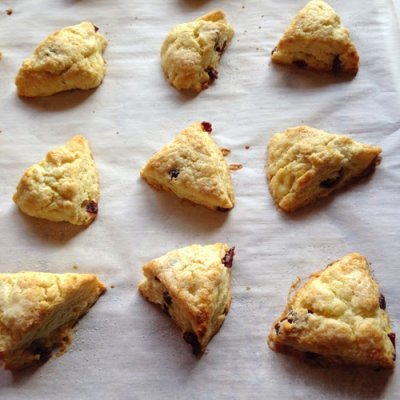 Mini Orange Cranberry Tea Scones