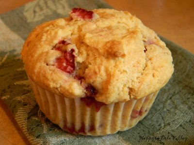 Muffins, Strawberry Shortcake
