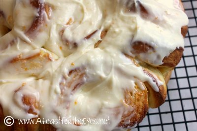 Sweet Rolls, Orange, with Icing