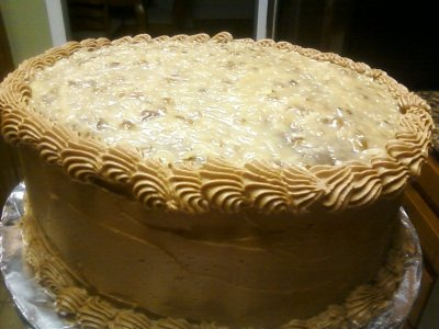 3-Layer Cake, German Chocolate