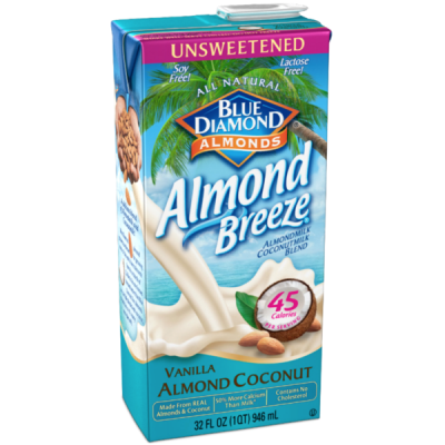 Almond Breeze, Almond Milk Coconut Milk Blend, Vanilla