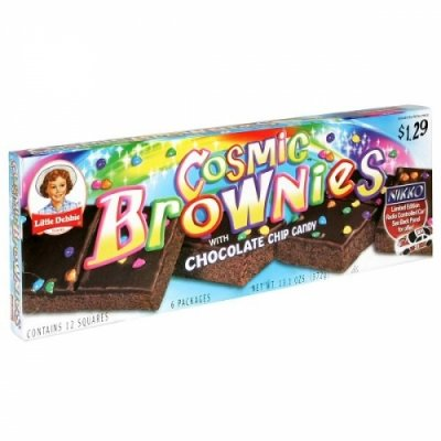 Brownie, with Chocolate Chip Candy, Cosmic Brownie