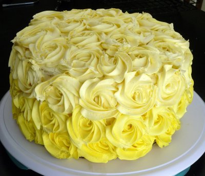 Cake, 3-Layer, Lemon