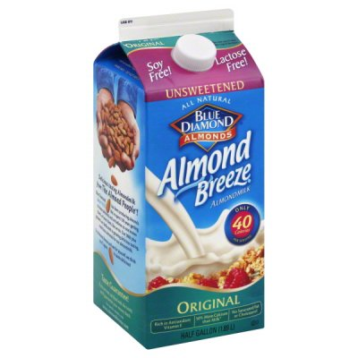 Almond Breeze, Almondmilk,Original, Unsweetened