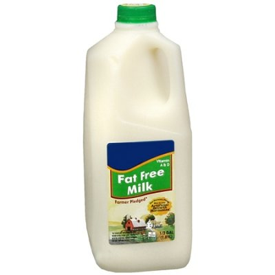 Skim Milk, Fat Free, Vitamin A&D