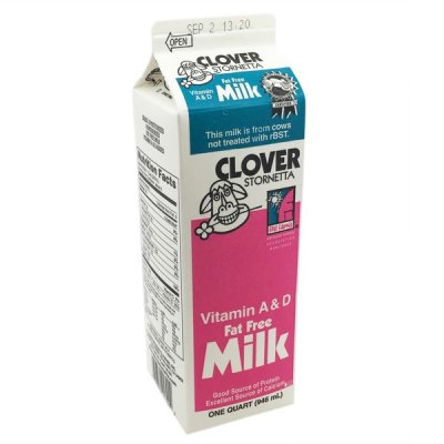 Fat Free Milk, Vitamins A & D