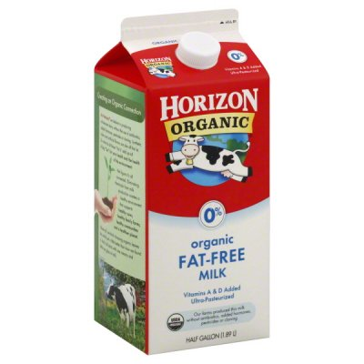 Milk, Fat Free, 0% Milkfat