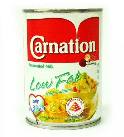 Evaporated Milk, Lowfat, 2%