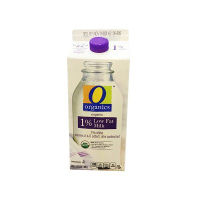 Organic 1% Milk, Lowfat, Vitamins A & D Added
