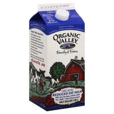 Milk, Reduced Fat, Organic, 2% Milkfat