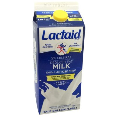 Grade A, Reduced Fat Lactose Free Milk