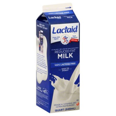 Milk, Reduced Fat, 100% Lactose Free, 2% Milkfat