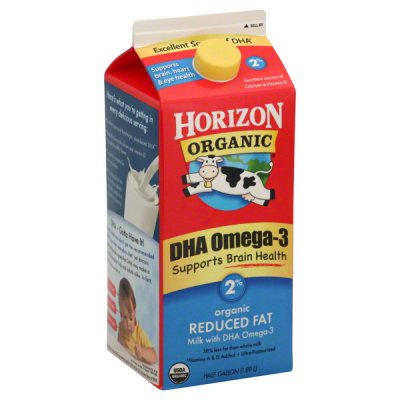Milk, DHA Omega-3, Reduced Fat, 2%
