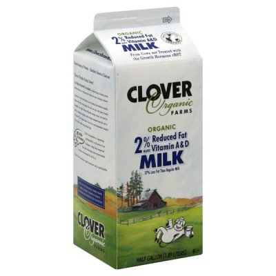 Organic 2% Reduced Fat Vitamin A and D Milk
