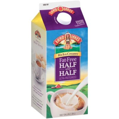 Ultra-Pasteurized Fat Free Half & Half MIlk