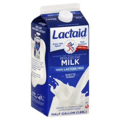 100% Lactose Free Reduced Fat Milk