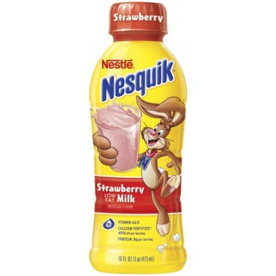 Nesquik, Strawberry Milk, Lowfat Milk