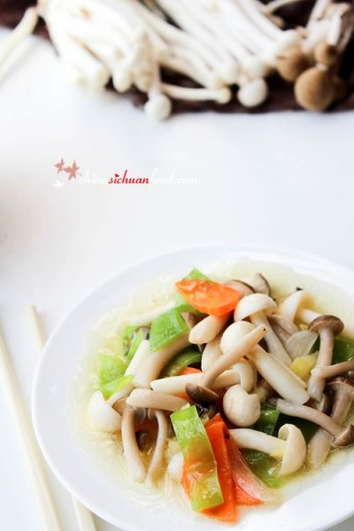 Mushrooms, white, stir-fried