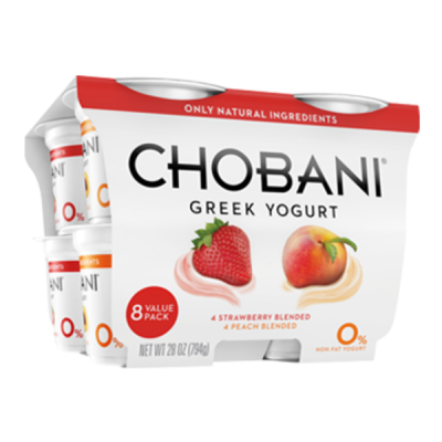 Blended Greek, Nonfat Yogurt, Strawberry Flavor