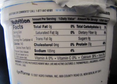 Greek Yogurt, Non-fat, Plain