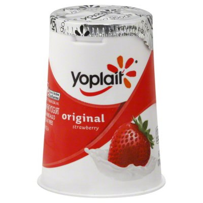 Yogurt, Low-fat, Strawberry